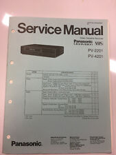 Panasonic Service Manual for PV-2201 and PV-4201