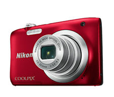 Nikon Coolpix A100 rot  Digitalkamera 20,1 MegaPixel HD-Video Blitz B-Ware*