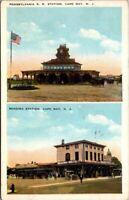 Postcard Pennsylvania R R Station Cape May NJ 1951