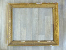 GRAND CADRE EPOQUE EMPIRE DORURE FEUILLE D'OR 1810's