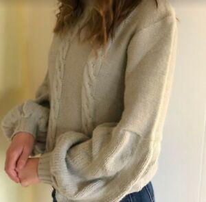 Toby Heart Ginger Knit Jumper Turtle Neck Women Grey Size L - Like New