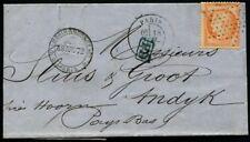 """Lot N°8208 FRANCE - N°38 Obl seul sur lettre de """"PARIS 18/JUIL/72"""" pour PAYS-BAS"""