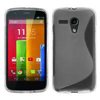 Fundas funda carcasa billetera TPU silicona gel S-Line para Motorola Moto G