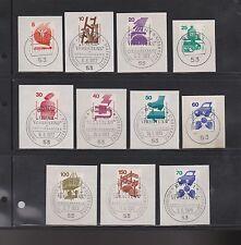 Briefmarken aus der BRD (1970-1979) mit Sonderstempel