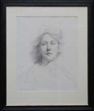 ESTELLA CANZIANI BRITISH EDWARDIAN SELF PORTRAIT PAINTING ART 1887-1964