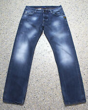 G-Star Attacc Low Straight Jeans Hose W34 L34 Raw Denim D975