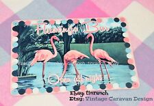 50s style FLAMINGO Bar tin SIGN/WALL ART! pink Vintage caravan retro postcard
