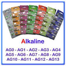 10 BATTERIE AG1 BOTTONE PILE ALKALINE 1,5V LR621 LR60 164 OROLOGI CALCOLATRICE