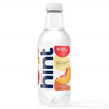 Hint Water Peach, Pack of 12 16 Ounce Bottles, Pure Water Infused with Peach,