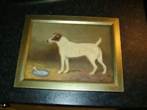 Oil Painting of a standing Dog