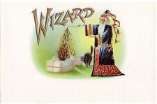 INNER CIGAR BOX LABEL VINTAGE C1920 WIZARD MAGIC SORCERER BLACK CAT HALLOWEEN