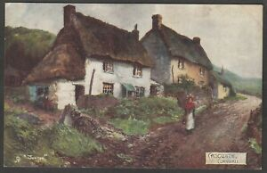 Postcard Cadgwith nr Lizard Cornwall art by Jotter posted 1904 Raphael Tuck