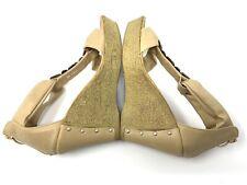 Patrizia by Spring Steps  Mauve Tan Rhinestone Platform Wedge Sandals Sz 40/ 9.5