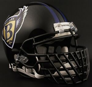 RAY LEWIS Edition BALTIMORE RAVENS NFL Riddell AUTHENTIC Football Helmet