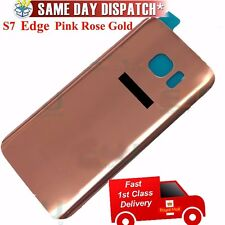 Original Samsung Galaxy S7 Edge G935F Battery Cover Back Glass Rose gold Pink