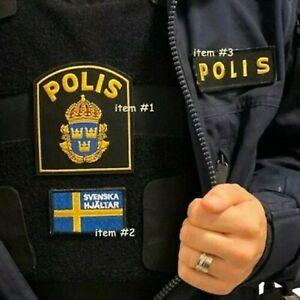 Suédois Suède Polisen Polis Piketen Piketenheten Velkrö 3-PC : Svenska Hjältar
