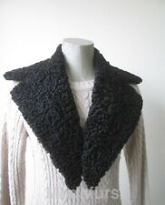 Men's New Black Persian Lamb Fur Collar