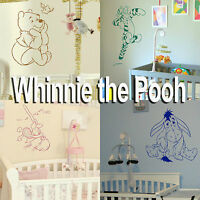 Whinnie the Pooh Wall Stickers! Home Transfer Graphic Kids Decals Decor Stencil