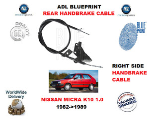 FOR NISSAN MICRA K10 1.0 1982-1989 NEW ADL REAR RIGTH HANDBRAKE CABLE 3640021B00