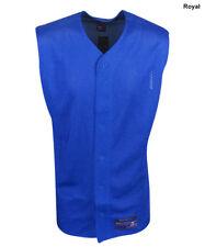 New Mizuno Sleeveless Royal Blue Polyester Mesh Baseball Jersey Mens Size- XL