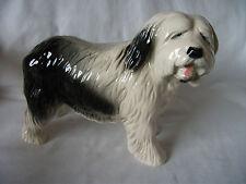 Old English Sheepdog Pottery Figure Ref 648