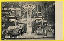 cpa Rare PARIS 1906 AUTOMOBILE Voitures STAND BOYER French Cars Motor Show