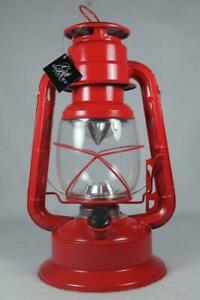 Flameless Lantern / Candle-No Flame LED Red Metal and Glass #467913 NEW