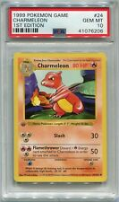 Pokemon Card 1st Edition Shadowless Charmeleon Base Set 24/102, PSA 10 Gem Mint