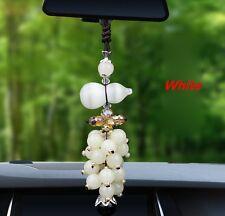 New White Car Mirror Pendant Interior Jewelry Decor Ornament Accessories