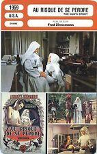Movie Card. Fiche Cinéma. Au risque de se perdre / The nun's story (USA) 1959