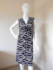 FACTORY OUTLETS BLACK AND WHITE  SPOTTED  STRETCHY  DRESS SIZE 16