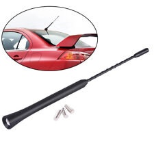 Universal 9 Inch Car Antenna AM/FM Radio Aerial Mast Screw Base Type Kit +Screws