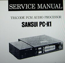 Sansui PC-X1 Tricode mic processeur audio service manual inc Schems bound anglais