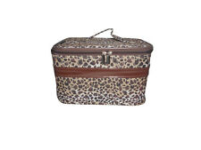 Cosmetic case,Beautiful Leopard print Makeup Case,Large size with shoulder strap