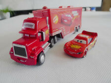 Disney Pixar Cars Mack Hauler Truck & NO.95 McQueen Metal Toy Cars New Loose
