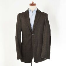Burberry London Sakko Gr 50 Donegal Tweed Wolle Seide Wool Silk Braun Brown HERB