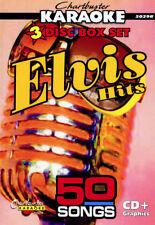 New listing Karaoke Cd+G Chartbuster 5029 Elvis Hits- 3 Disc Box Set 50 Songs Ships Same Day