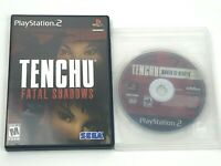 Tenchu: Fatal Shadows & Wrath of Heaven for PlayStation 2 PS2 / No Manual