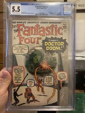 Fantastic Four #5. First Doctor DOOM Fine - 5.5 CGC.  wow