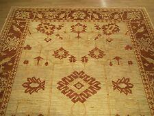 9.5 x 11.7 Handmade High Quality Afghan Ziegler Rug Veggie Dye Hand Spun Wool