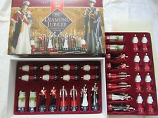 Queens diamond jubilee chess set SAC Anne carlton A195S 1952-2012 unused boxed