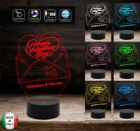 Regalo romantico San Valentino Lampada led originale e personalizzabile 7 colori