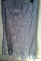 ladies size 12 jacques  vert  silver grey sequined  skirt