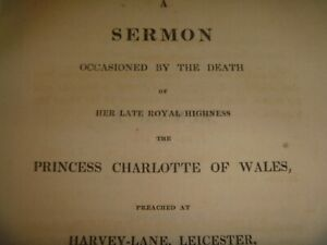 1817 Sermon Occasioned by Death of her Late Royal Highness Princess Charlotte