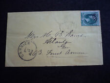 Postal History - USA - Large Banknote Issue Cover - Allendale to Atlanta