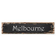 SP0212 Melbourne Street Sign Bar Store Shop Pub Cafe Home Room Chic Decor