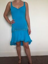 Latin Dance Stretchy Dress with crystals