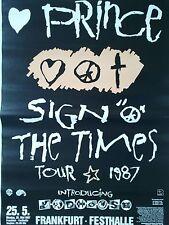 PRINCE  1987  FRANKFURT  --  orig. Concert Poster - Konzert Plakat  A1  NEU