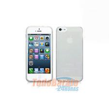 Funda tpu gel  para IPHONE 5 5G Blanca transparente
