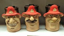 FIREMAN FACE MUG in Handcrafted Stoneware- Choose 1